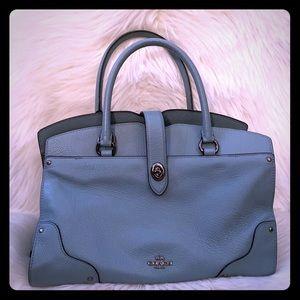 Blue Coach satchel style handbag